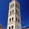 St Anastasia Cathedral bell tower built in the 15th century in Zadar, Croatia.