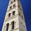 Cathedral Tower of Saint Anastasia from the 15th century in Zadar, Croatia