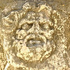 Sculptured head of a man in the ancient roman forum of Zadar in Croatia