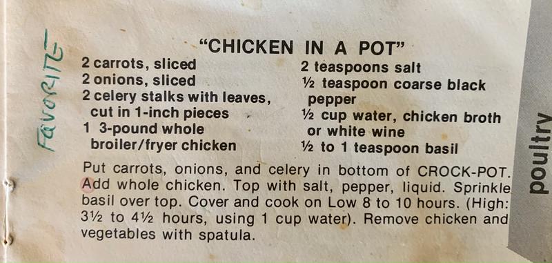Favorite recipe.