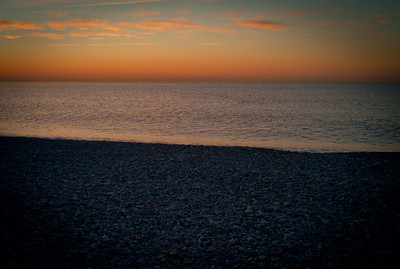 Sunrise from the shore in Cros de Cagnes, France