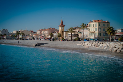 Cros de Cagnes from the shore, France