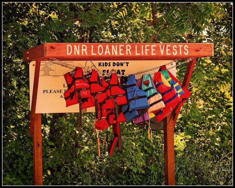 """Because Kids Don't Float,""  Life-vest program on the Missouri River."