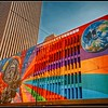 Mural on the Fifth-Third Bank downtown Cincinnati honoring Neil Armstrong.