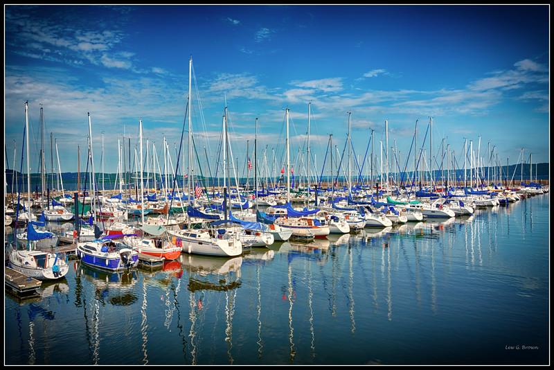 Boat Docks in Lake City, Minnesota. On Lake Peppin.