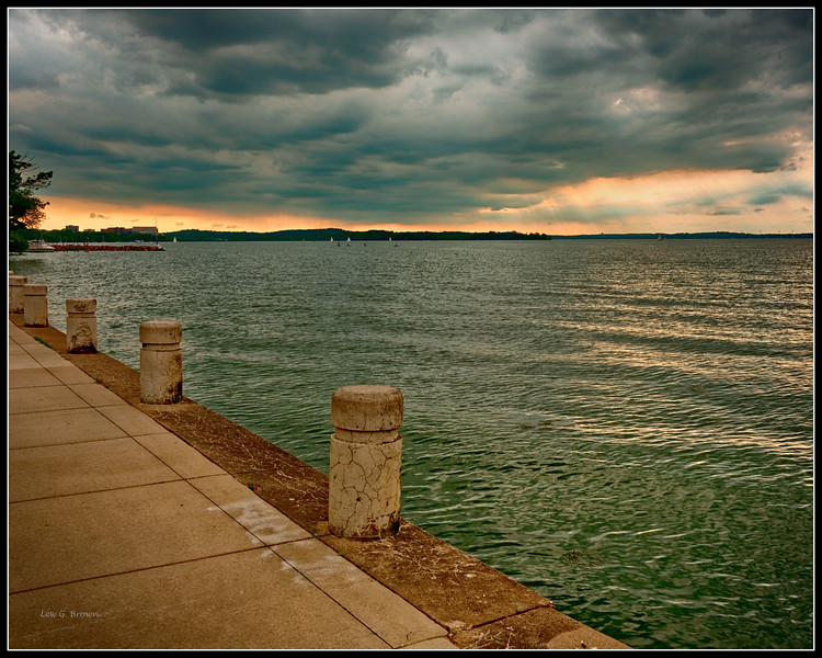 View of Lake Mendota, one of two lakes, between which Madison lies.