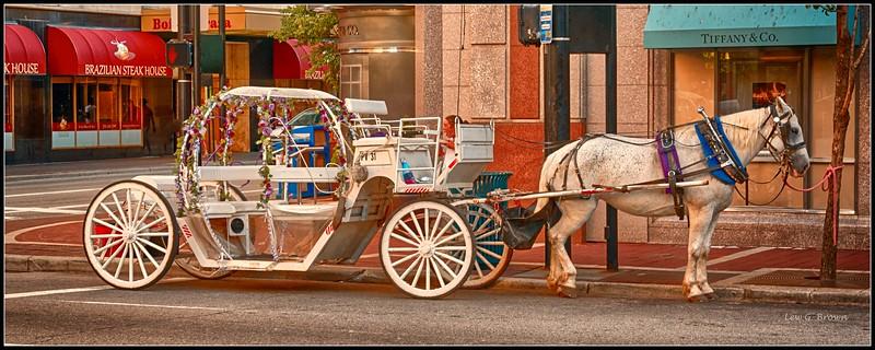 """Waiting for a Princess.""  Downtown Cincinnati."
