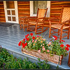 Front Porch of Cabin, ranch near Cody Wyoming