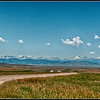 View of Bighorn Mountains, Wyoming, from South Dakota