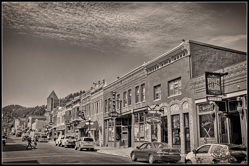 Downtown Deadwood , South Dakota