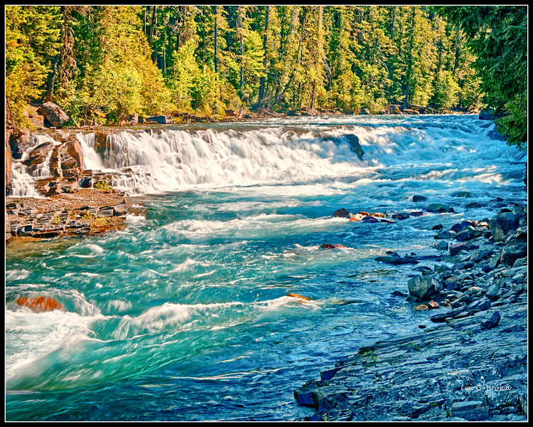 Rapids on McDonald Creek.  View 1.