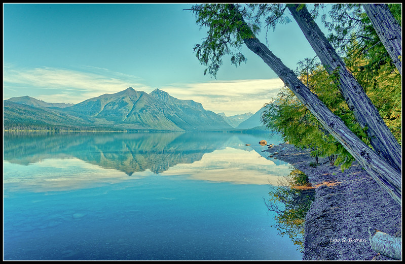 View of Mt. Stanton from Lake McDonald
