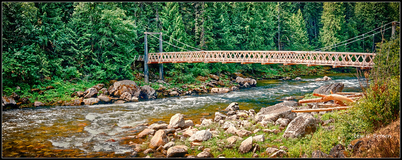 Footbridge over Clearwater River.