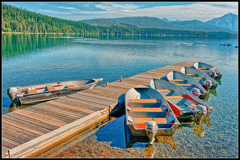 Lake McDonald Boat Dock, Glacier NP, near Apgar, West Entrance.