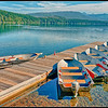 Lake McDonald Boat Dock, Glacier NP, near Apgar, West Entrance.