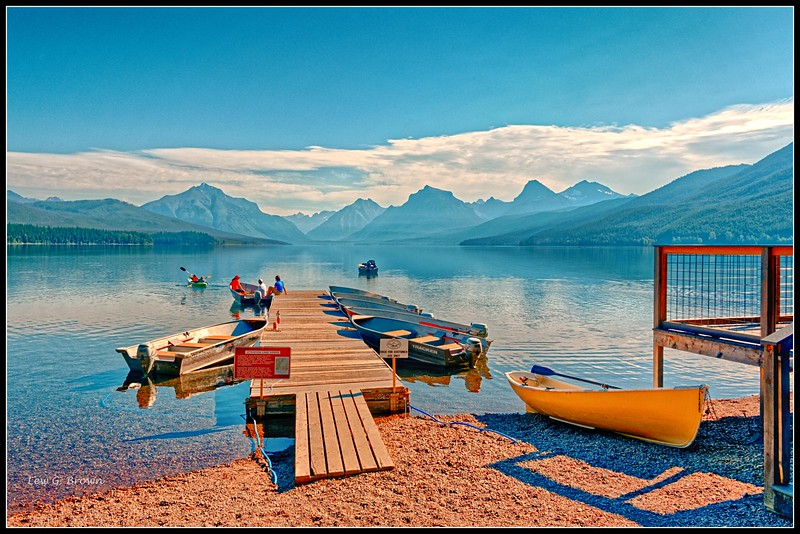 Early morning on Lake McDonald.  Glacier National Park