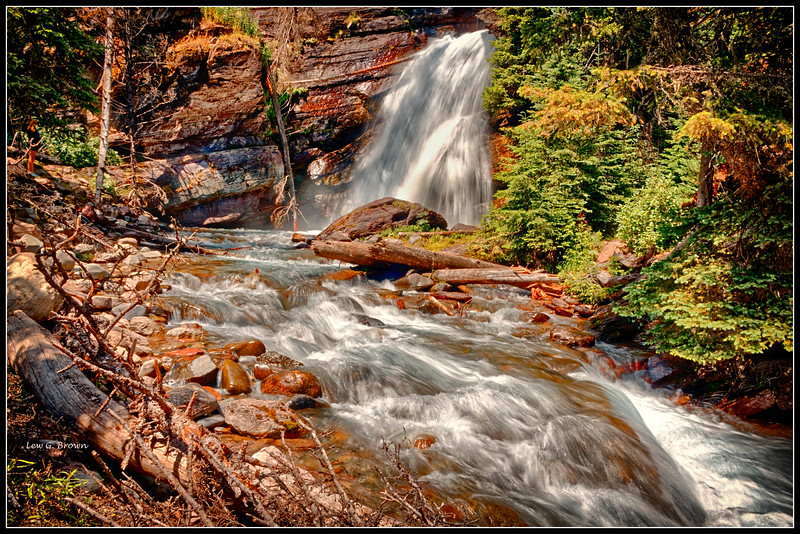 Baring Falls.  Shutter speed 1/10th of a second.