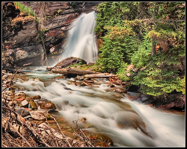 Baring Falls, slow shutter speed, 1.3 seconds.