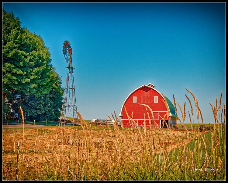 Barn and Windmill - Palouse