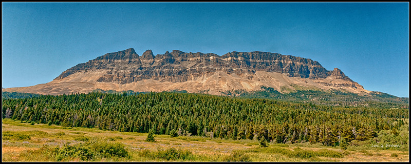 Mountain near Saint Mary Lake and eastern park entrance.