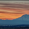 Sunrise with Mt. Rainier as seen from downtown Tacoma
