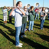 "The Pendleton Heights' band performs ""The Star-Spangled Banner"" before the Cross Country sectional at Pendleton Heights on Tuesday."