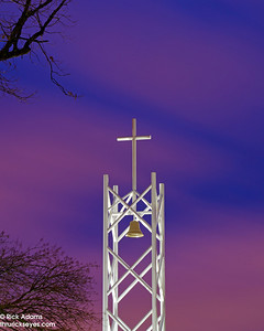 Cross atop Prayer Tower