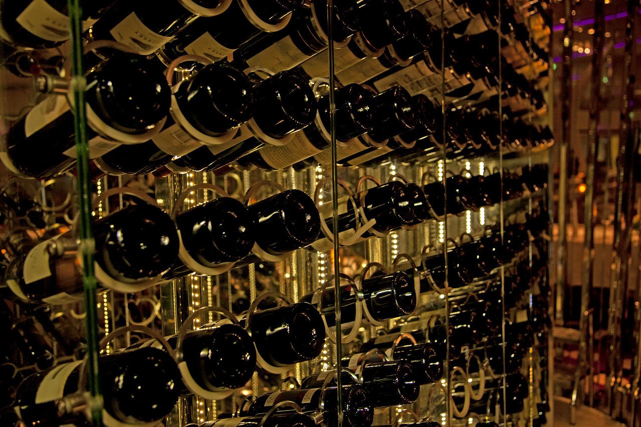Inside the wine cellar