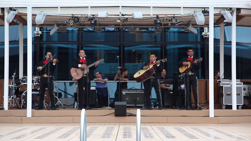 Mariachi Band aboard Equinox. Video