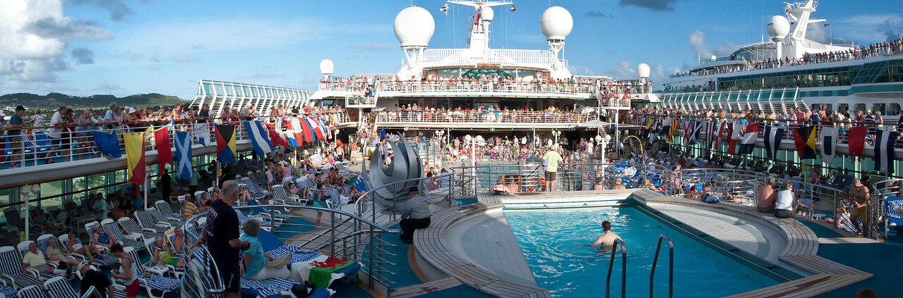 Sail Away party in Antigua cruise ship