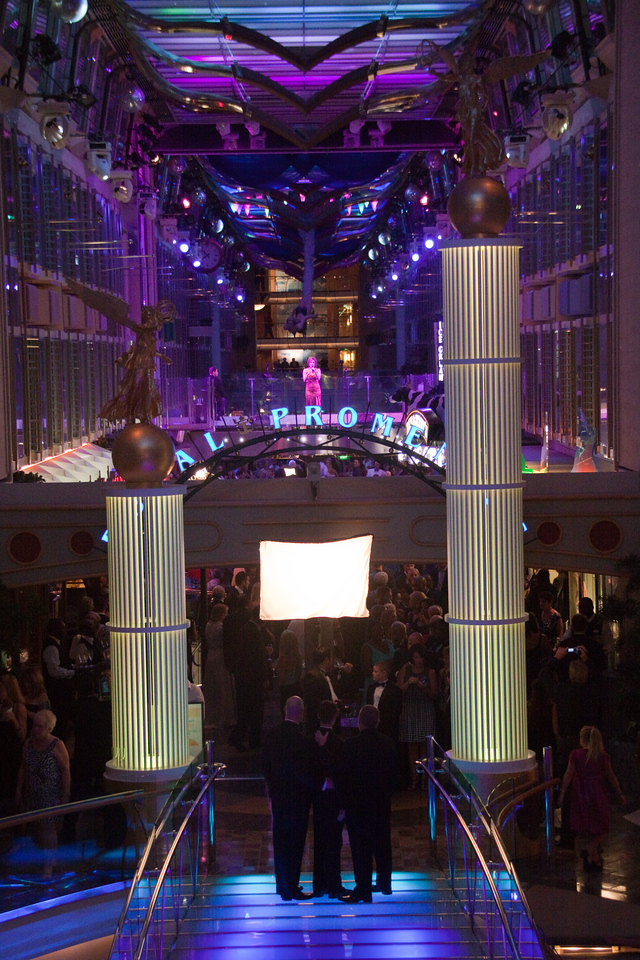 Freedom of the Seas Promenade on formal night