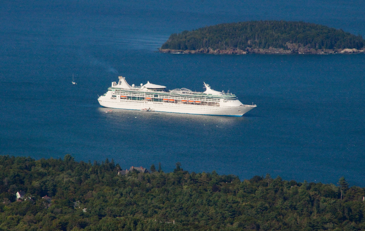 Enchantment of the Seas Looking down in Acadia National Park