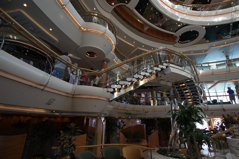Enchantment of the Seas Many faceted atrium