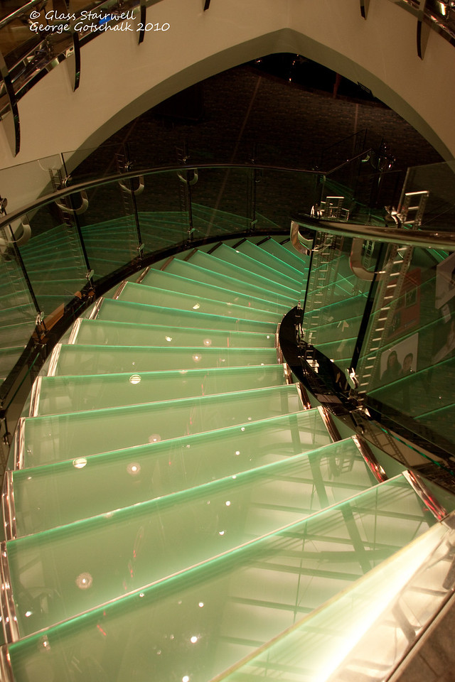 Freedom of the Seas glass stairwell