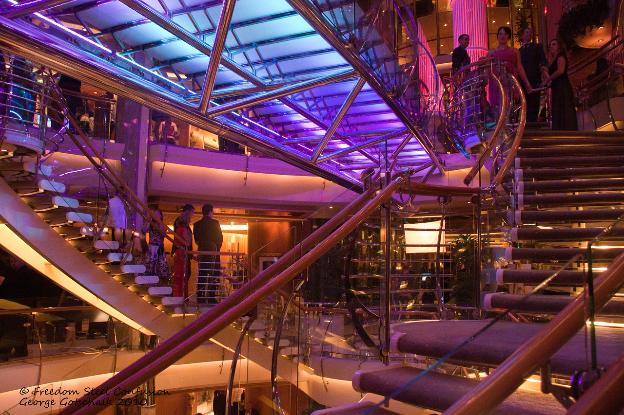 Freedom of the Seas stairwell