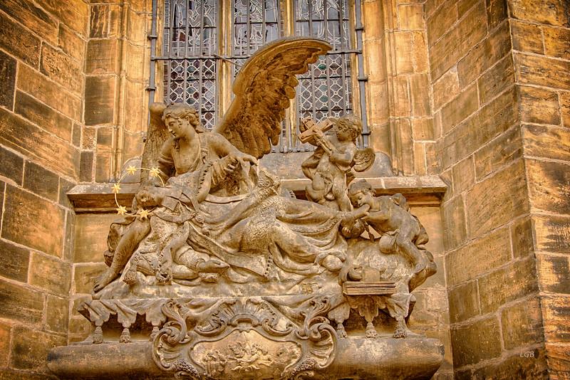 Statue outside St. Vitus.