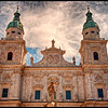 Salzburg Cathedral.  Rebuilt in 17th Century.  Mozart baptized here 1756.