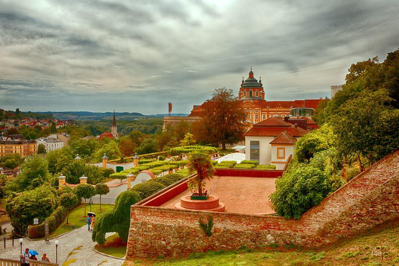 Melk Abbey in Melk, Austria.