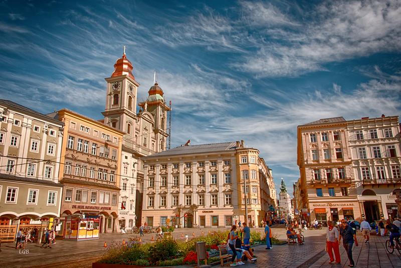 Downtown, Linz, Austria.
