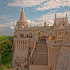 Fisherman's Bastion on Castle Hill adjoining Matthias Church
