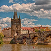 Charles Bridge, Prague. Around 1400.  Connects Old Town with Prague Castle.