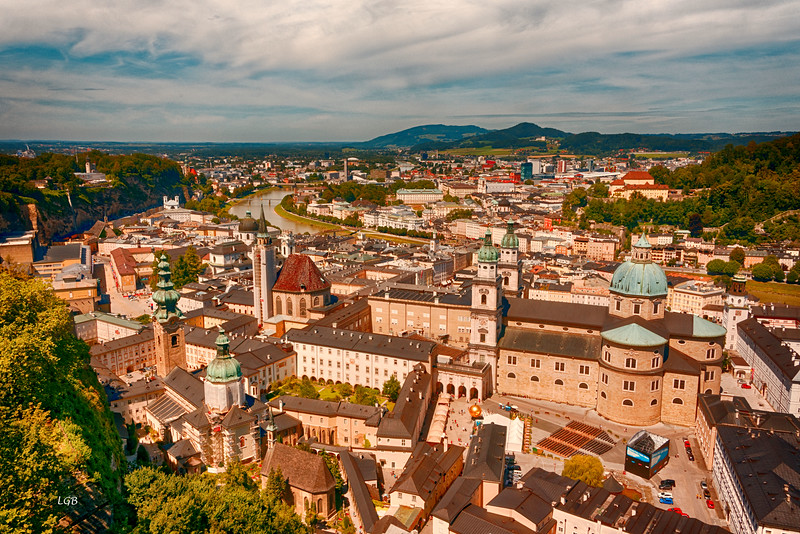 View of Salzburg from the Fortress