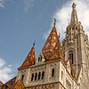 Matthias Church roof with ceramic tiles.