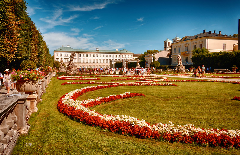 """Salzburg, Austria. Gardens at Mirabell Palace. """"Sound of Music"""" scenes filmed here."""