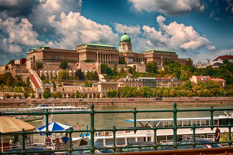 Buda Castle on the Buda side of Budapest, west side of the Danube