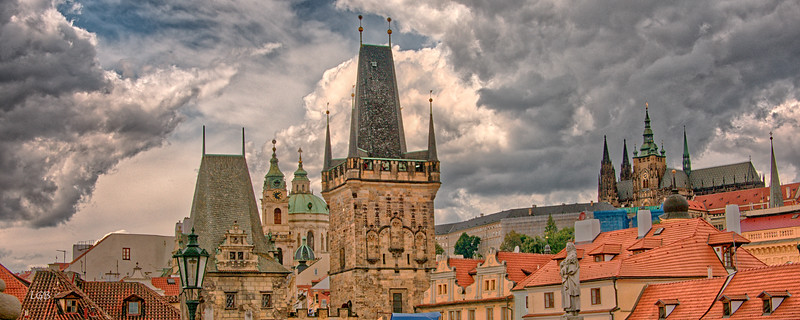 View from Charles Bridge looking towards Old Town