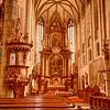 Inside St. Vitus Cathedral, Cesky Krumlov.  1400 AD.