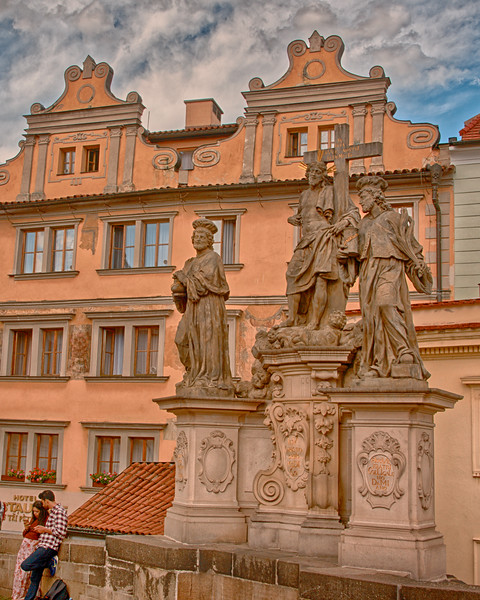 Statues along Charles Bridge