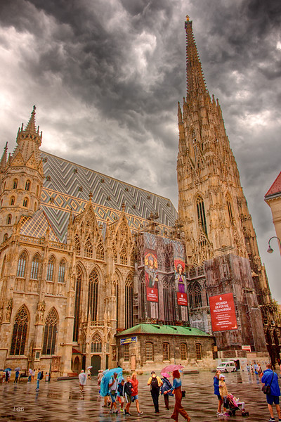 St. Stephen's Cathedral, Vienna. Dates from 1137.
