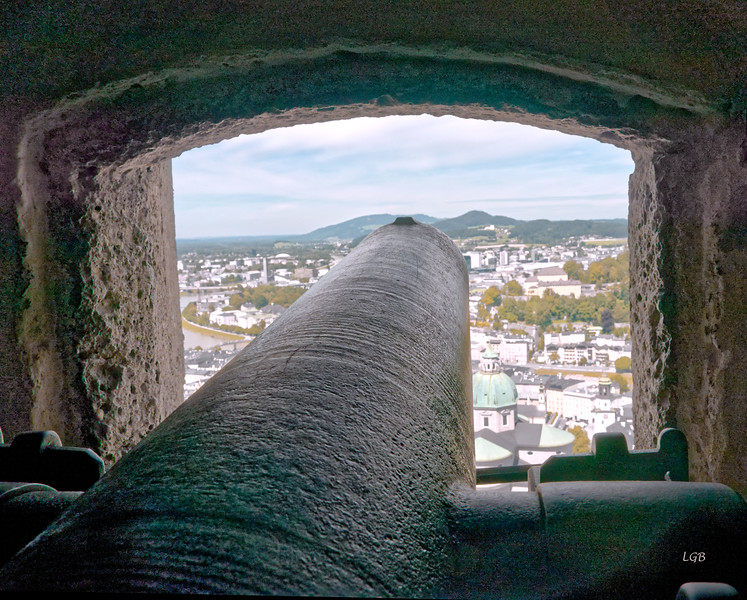 Cannon view from Hohensalzburg Fortress